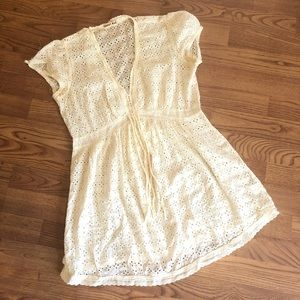Johnny Was | Ivory Eyelet Lace Tunic Baby Doll